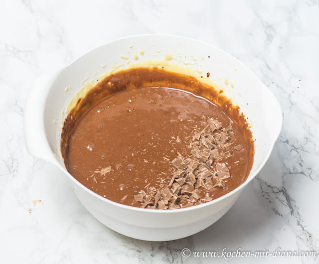 Kaffee-Brownies Teig