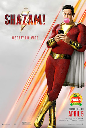 Poster Of Free Download Shazam! 2019 300MB Full Movie Hindi Dubbed 720P Bluray HD HEVC Small Size Pc Movie Only At worldfree4u.com