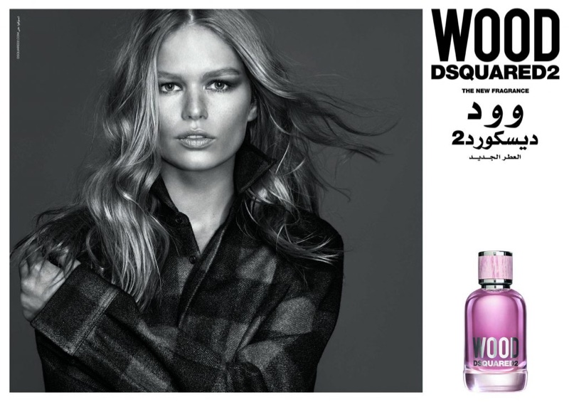 DSquared2 Wood Fragrance Campaign featuring Anna Ewers