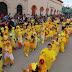 Con colorido desfile anuncian niños de  Preescolar, la llegada de la primavera