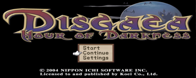 Disgaea title screen