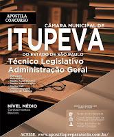 Apostila Câmara Municipal de Itupeva (SP) Técnico Legislativo