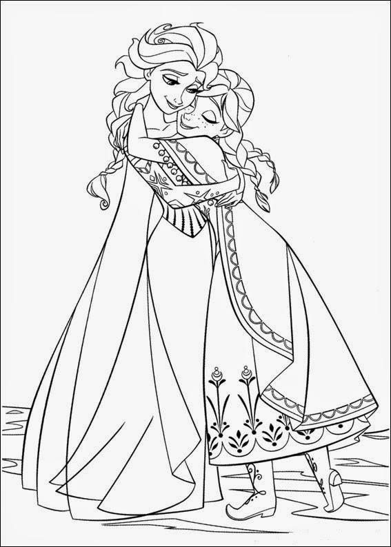 Dibujo De Ana Y Elsa De La Película De Disney Frozen Para