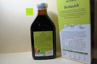 Flasche und Verpackung Rückseite: Herbaria Blutquick, bio, 1er Pack (1 x 500 ml)