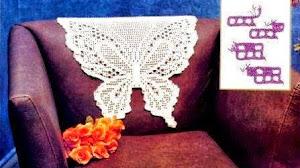 Mariposas al crochet para decorar tu sillón preferido