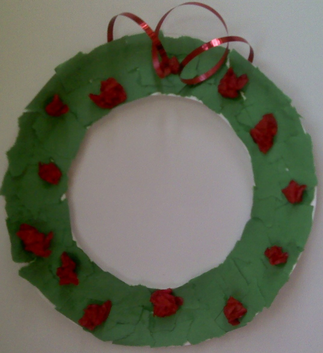 Crafts For Preschoolers Paper Plate Wreath