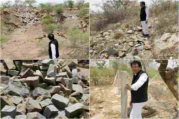 advocate-ln-parashar-visit-aravali-to-expose-avaidh-khanan