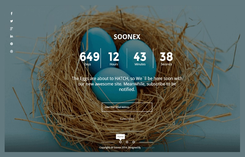 Soonex Coming Soon Under Construction Full Width Blogger Template