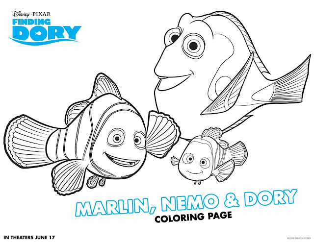 Finding dory nemo coloring pages