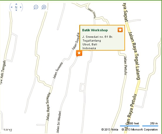 Ubud Batik Workshop Location Map,Location Map of Ubud Batik Workshop,Batik Workshop in Ubud Accommodation Destinations Attractions Hotels Map