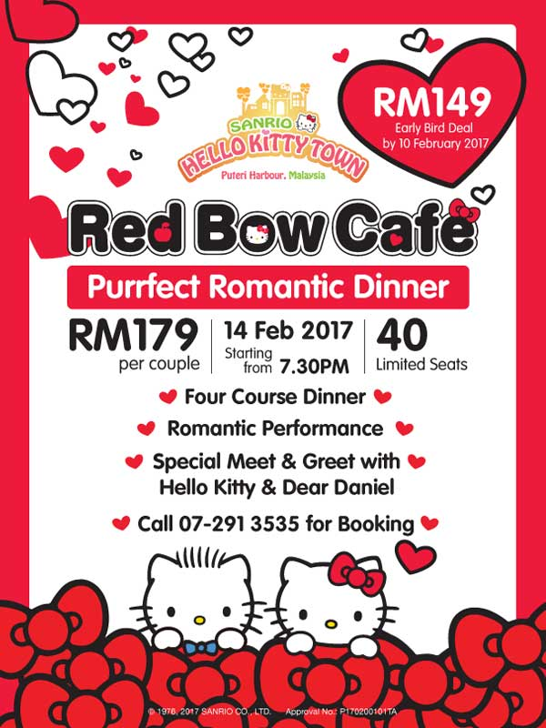 puteri harbour hello kitty red bow cafe valentines