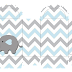 Baby Elephant in Grey and Light Blue Chevron: Free Printable Boxes and  Free Party Printables.