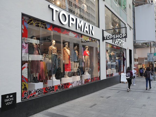 Topman and Topshop in Hong Kong