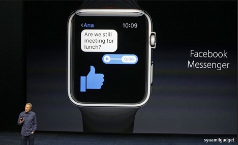 Facebook Messenger Resmi Hadir di Apple Watch