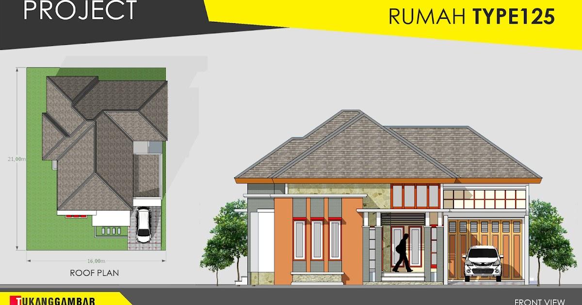 Project: Desain Rumah 1 Lantai - Type 125 | Tukang Gambar