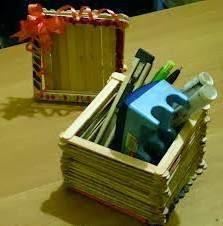 Contoh Kotak Pensil dari Stik Es Krim   Cara Membuat ...