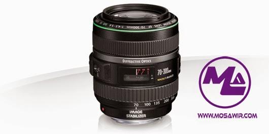 عدسة كانون: Canon EF 70-300mm f/4.5-5.6 DO IS USM