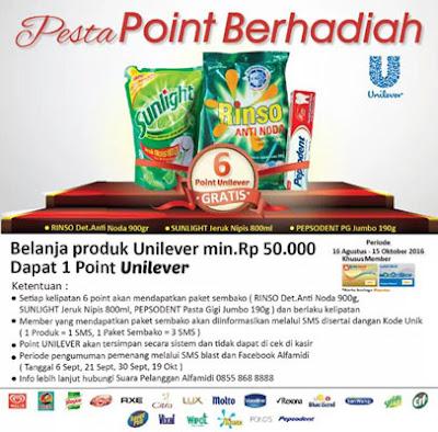 Pesta Point Berhadiah Unileaver – Alfamidi