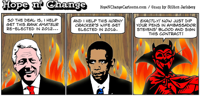 obama, obama jokes, clinton, deal, 2016, irs, scandal, devil, conservative, tea party, stilton jarlsberg, cartoon
