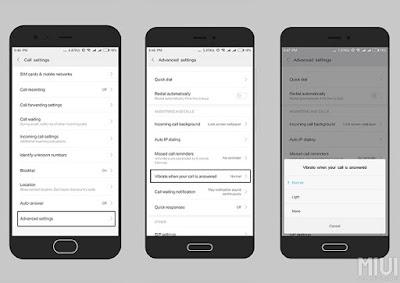 Cara Mengaktifkan Getaran Saat Menjawab Panggilan di HP Xiaomi