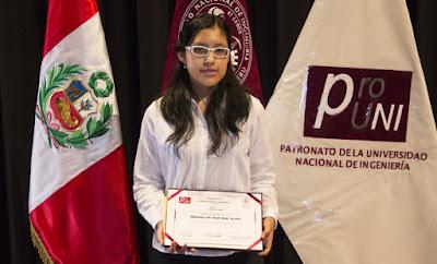 Adolescente de 15 años logra récord histórico en la UNI al sacar la más alta nota en los exámenes de admisión