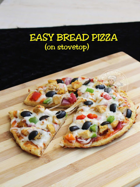 BREAD PIZZA pizza with bread slices no oven bread recipe pizza recipe perfect bread pizza yummy pizza without pizza sauce