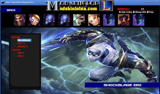 Mod Skin] Shockblade Zed Free Skin Update PBE ~ Mod Skin LOL Free