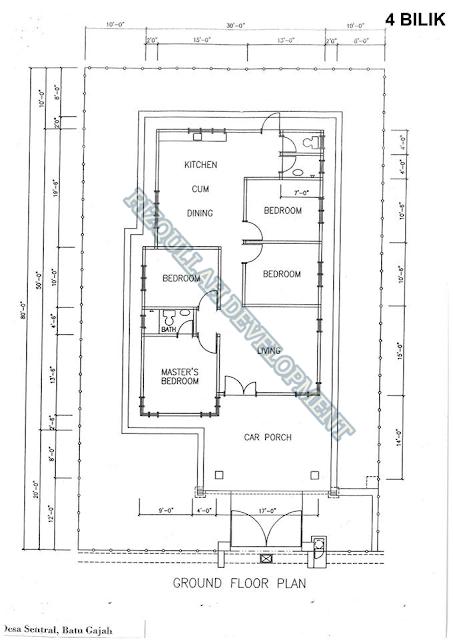 Floor Plan Banglo 4 Bilik di Batu Gajah Perak