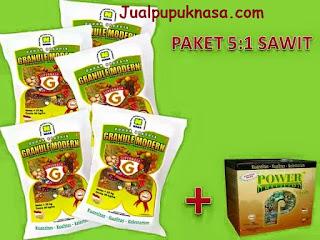 Cukup 50 kg Supernasa Granule + 3 Kg Power Nutrition untuk lahan sawit seluas 1 hektar