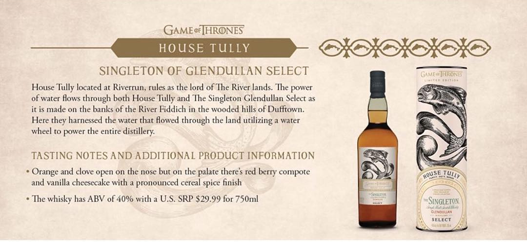 House Tully - Singleton of Glendullan Select