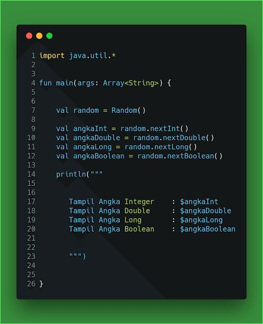 Contoh Code Program Angka Acak 1 Kotlin
