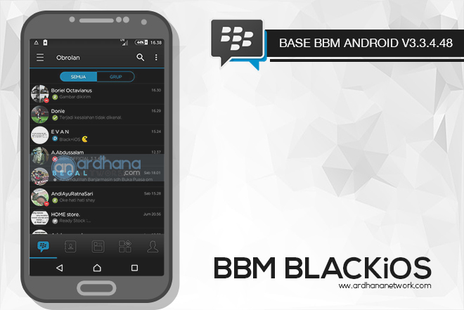 BBM BLACKiOS V3.3.4.48 - BBM MOD Android V3.3.4.48