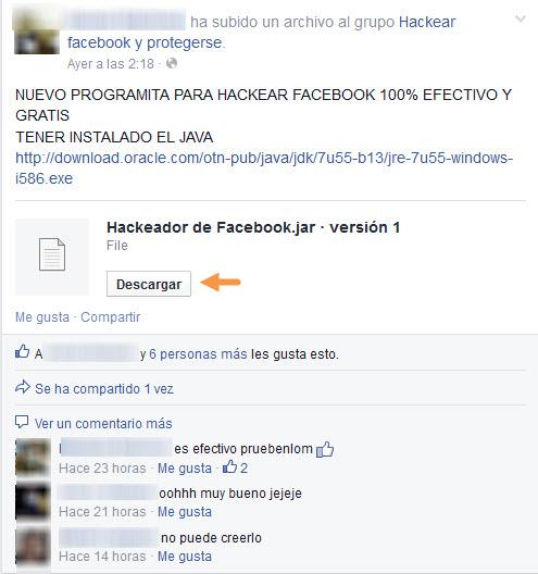 Hackeador de Facebook - Análisis MasFB