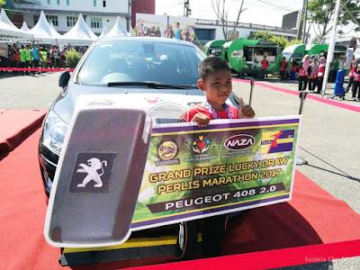 budak sekolah menang kereta