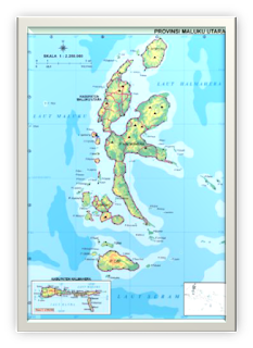 Peta Maluku Utara