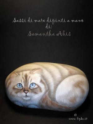 Immagine di gatto Maine coon dipinto