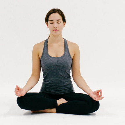 Need a little more energy to start your day right? Yoga Easy Pose