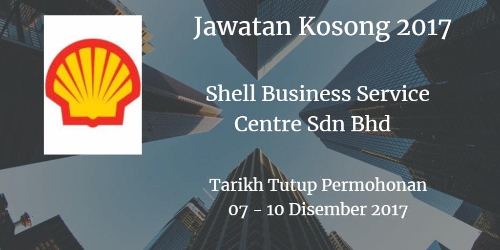 Jawatan Kosong Shell Business Service Centre Sdn Bhd  07 - 10 Disember 2017