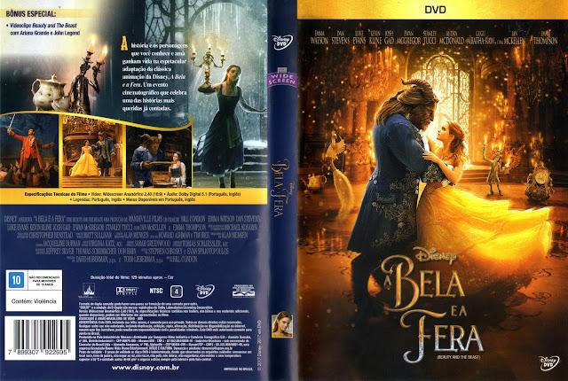 Capa DVD A Bela e a Fera (Oficial)
