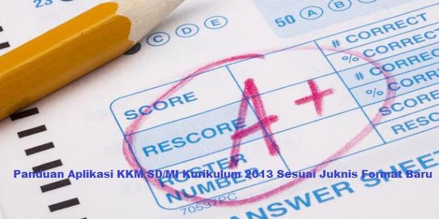 Panduan Aplikasi KKM SD/MI Kurikulum 2013 Sesuai Juknis Format Baru