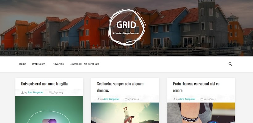Grid Free Blogger Template