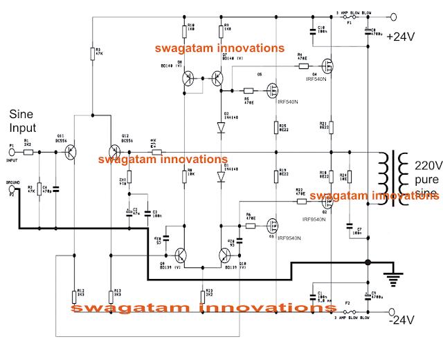 500 watt power amplifier circuit used for inverter application