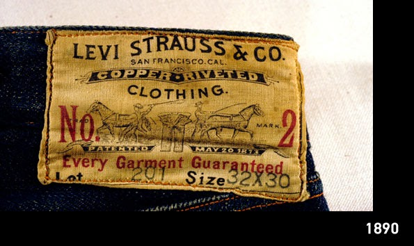 Levis 201 patch - Levi's archive