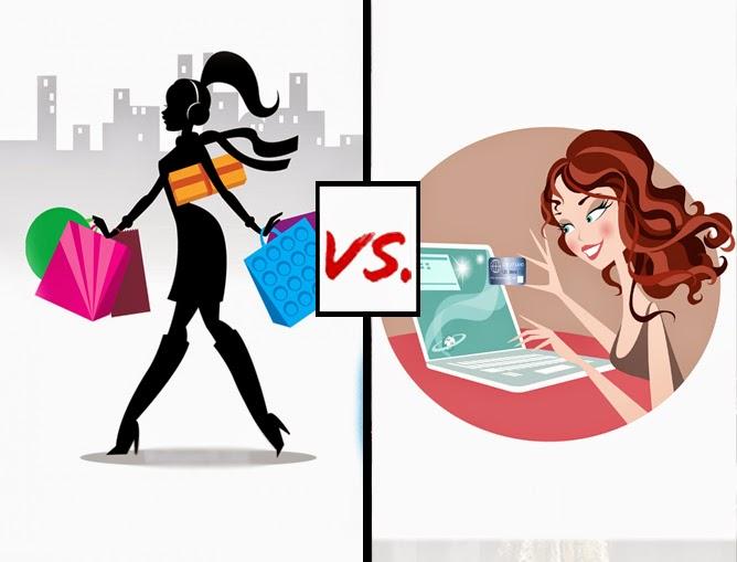 Shopping online vs in store