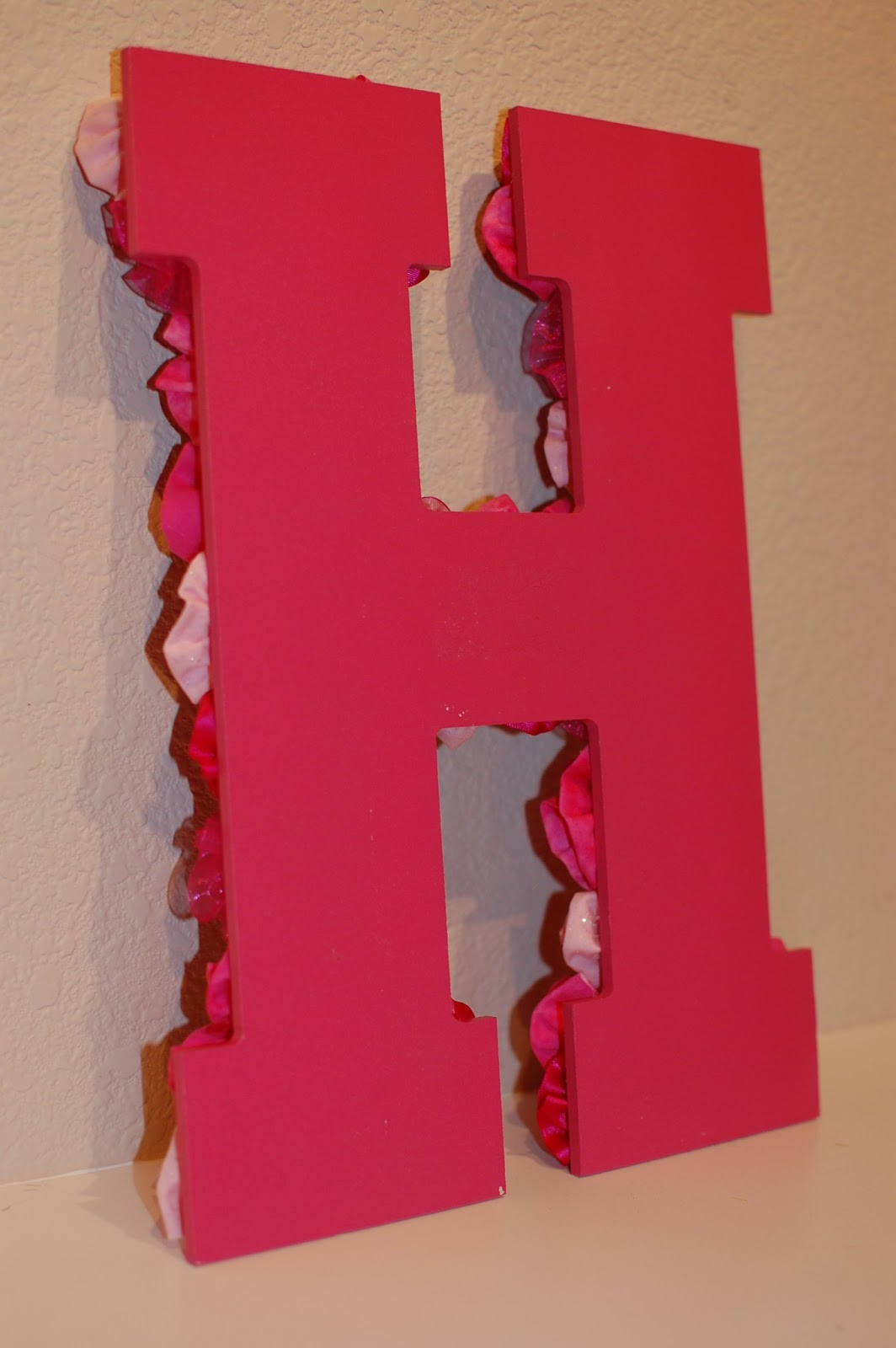 Pinkie for Pink: DIY Letter Wall Decor