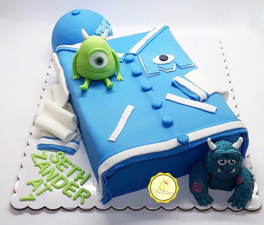 Brilliant Shezzles Cakes And Pastries Monsters University Theme Personalised Birthday Cards Epsylily Jamesorg