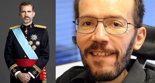 Pablo Echenique critica el discurso de Felipe de Borbón