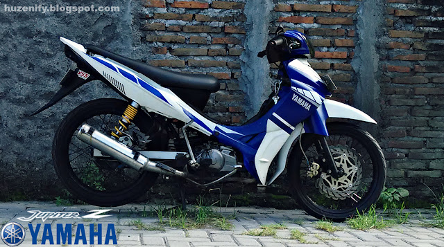 yamaha jupiter z modifikasi road race dan striping racing motogp