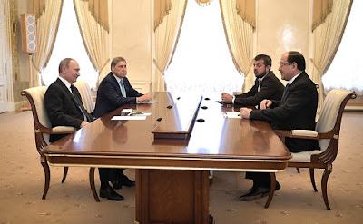 Vladimir Putin at a meeting with Vice President of Iraq Nouri al-Maliki.