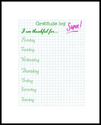 Gratitude log US letter size (8.5x11) PDF